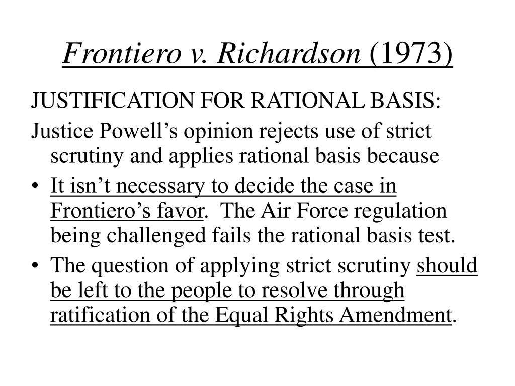 Frontiero v. Richardson