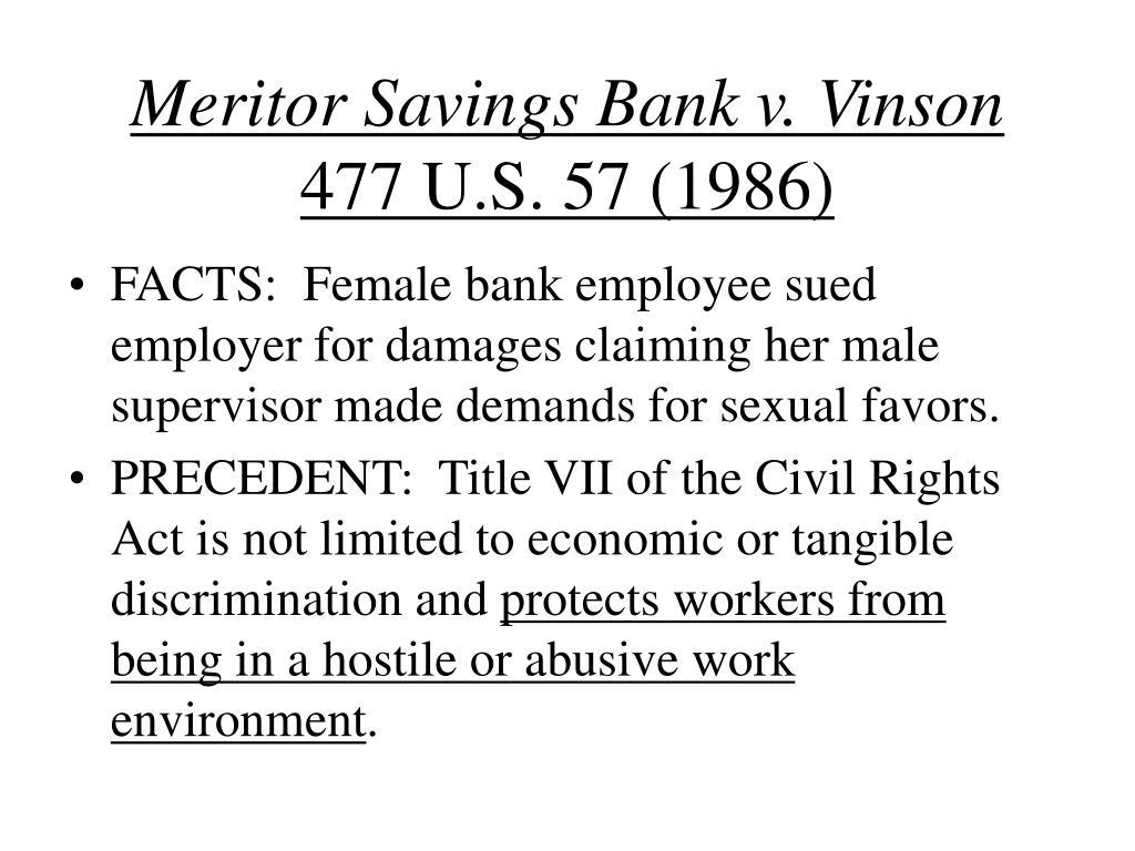 Meritor Savings Bank v. Vinson