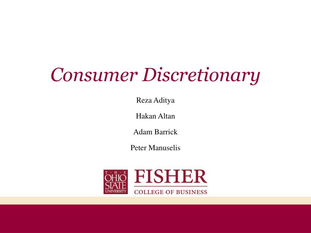 consumer discretionary l.