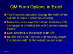 qm form options in excel3