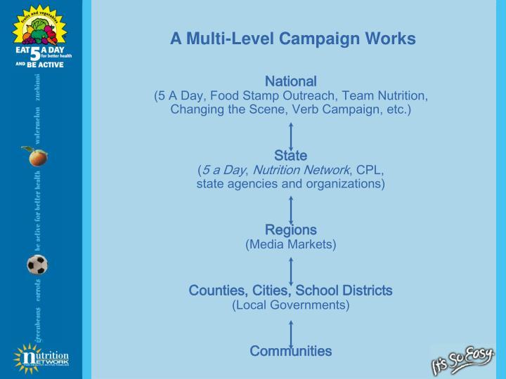 A Multi-Level Campaign Works