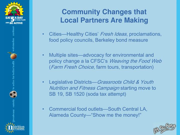 Community Changes that