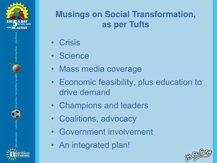Musings on Social Transformation,