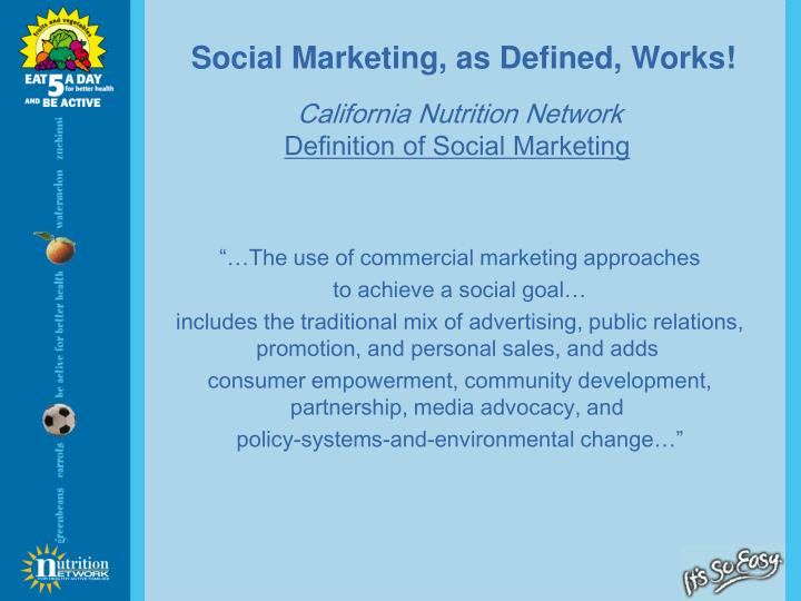 Social Marketing, as Defined, Works!