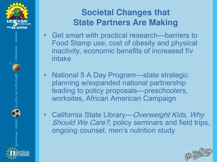 Societal Changes that