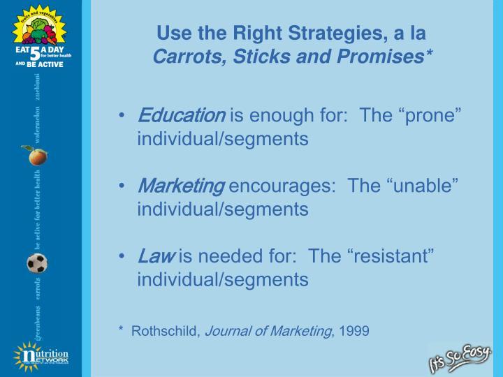 Use the Right Strategies, a la