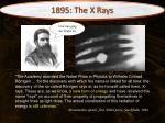 1895 the x rays