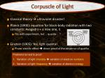corpuscle of light