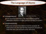 the language of atoms