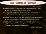 the tevatron at fermilab