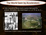 the world seen by accelerators