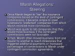 marsh allegations steering