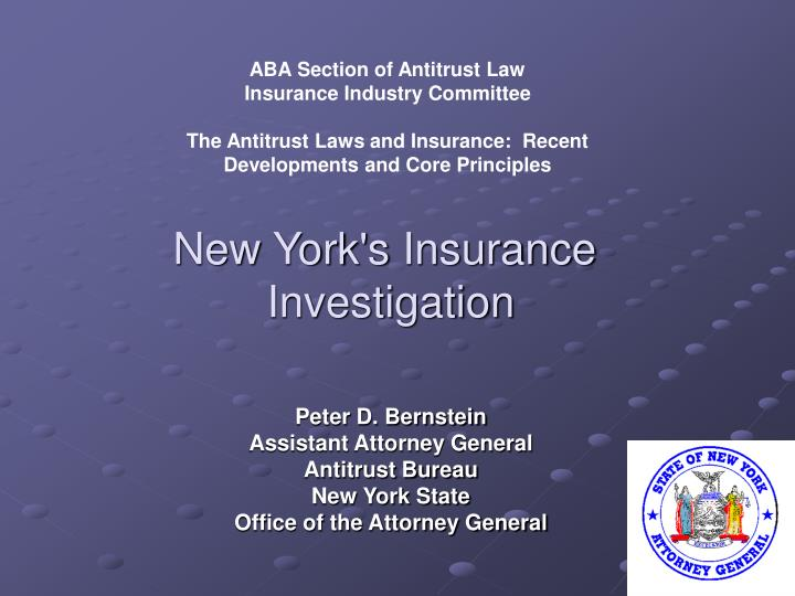 new york s insurance investigation n.