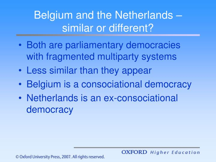 Belgium and the netherlands similar or different