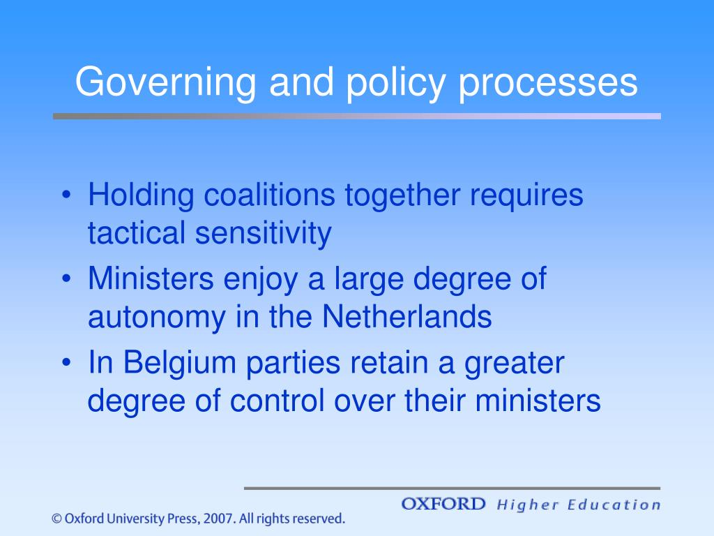 Governing and policy processes