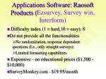 applications software raosoft products ezsurvey survey win interform