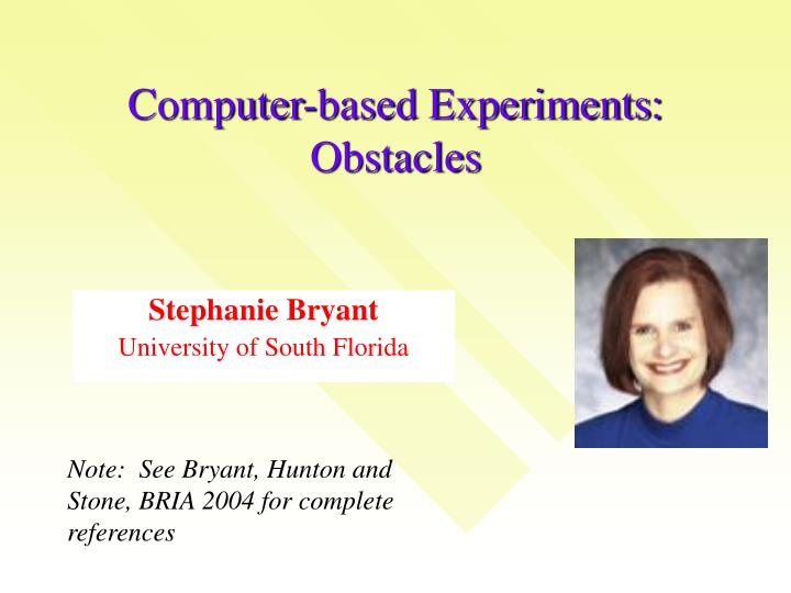 computer based experiments obstacles n.