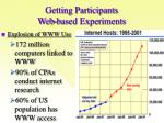 getting participants web based experiments