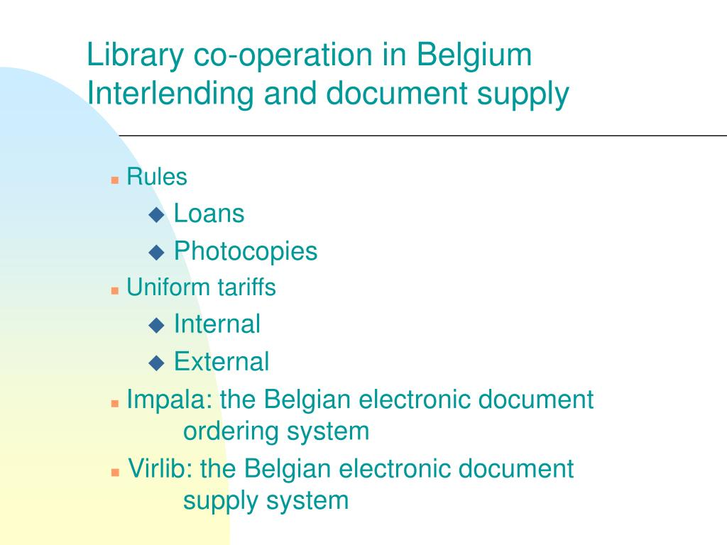 Library co-operation in Belgium