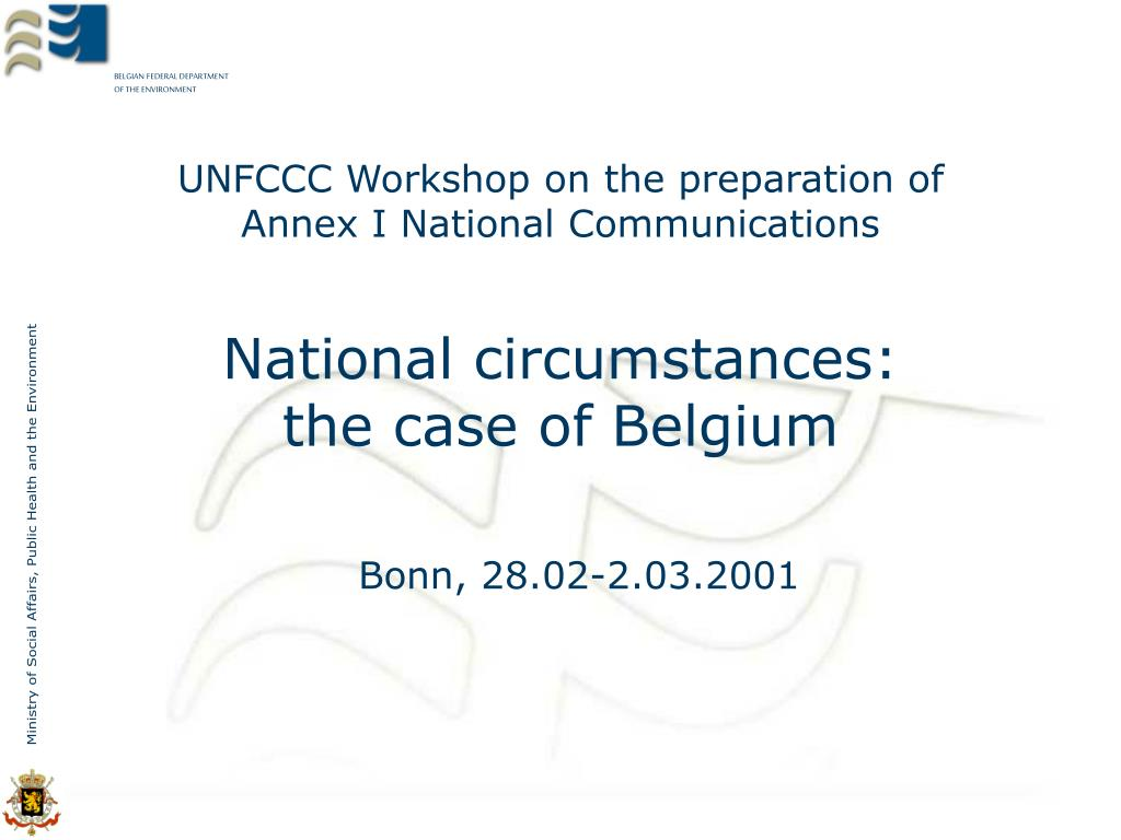 unfccc workshop on the preparation of annex i national communications l.