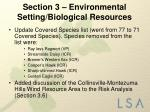 section 3 environmental setting biological resources