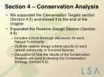 section 4 conservation analysis2