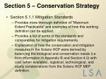 section 5 conservation strategy