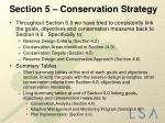 section 5 conservation strategy2