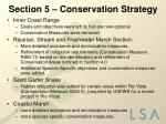section 5 conservation strategy6