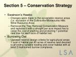 section 5 conservation strategy7