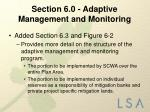 section 6 0 adaptive management and monitoring