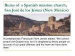 ruins of a spanish mission church san jos de los jemez new mexico