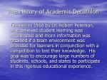the history of academic decathlon