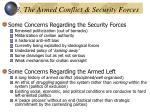 3 the armed conflict security forces
