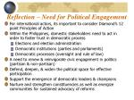 reflection need for political engagement