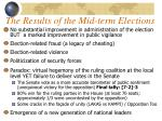 the results of the mid term elections