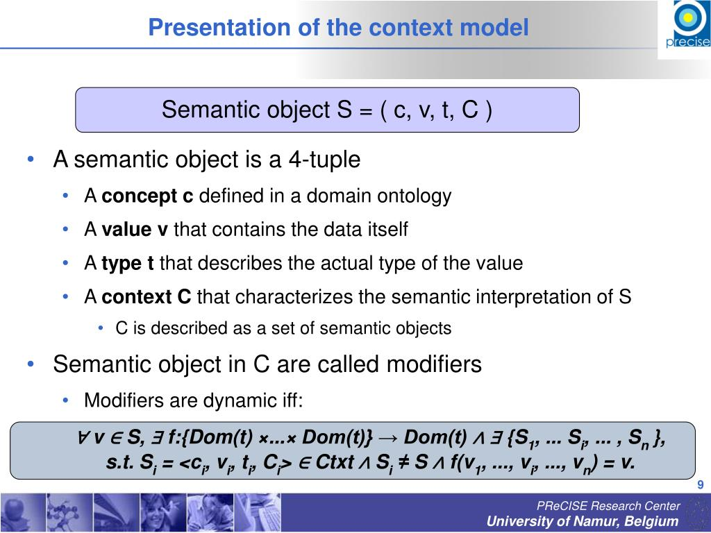 Presentation of the context model