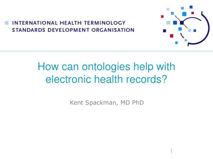 how can ontologies help with electronic health records n.