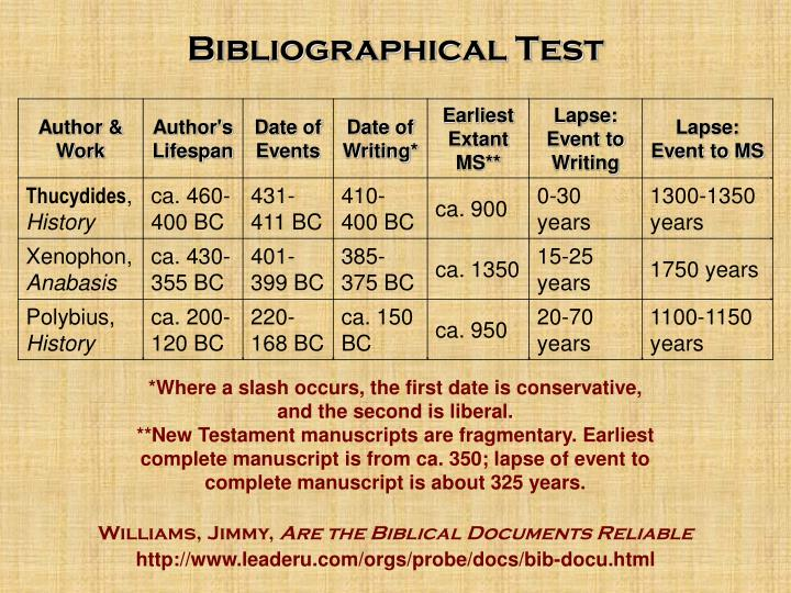 Bibliographical Test