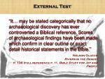 external test