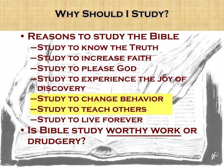 Why Should I Study?