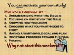 you can motivate your own study