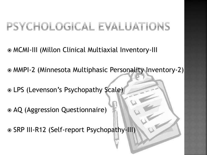 Psychological Evaluations