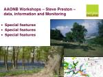 aaonb workshops steve preston data information and monitoring