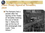 peace treaty signed at versailles 1919