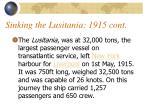 sinking the lusitania 1915 cont