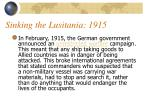 sinking the lusitania 1915