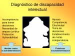 diagn stico de discapacidad intelectual