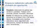 exigencias industriales aplicadas al modelo de capacitaci n2