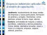 exigencias industriales aplicadas al modelo de capacitaci n3